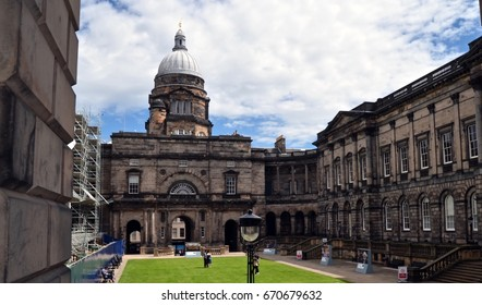 Edinburgh University, Playfair Library and Law School, famous Edinburgh landmark. Scotland UK July 2017