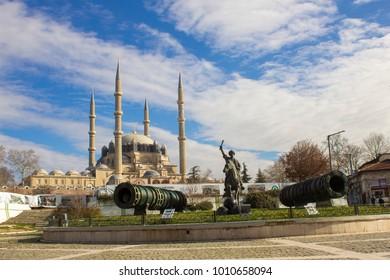 EDIRNE, TURKEY, 23.02.2017: Selimiye Mosque in Edirne in Turkey