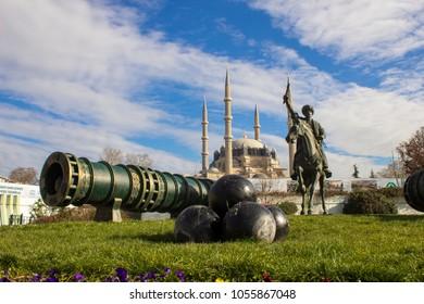 EDIRNE, TURKEY, 23.02.2018: Selimiye Mosque in Edirne in Turkey
