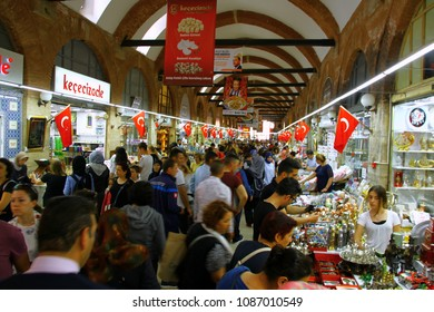 EDIRNE, TURKEY - 6 May 2018. A view from the Selimiye Arasta (Bazaar) where is beside Selimiye Mosque in Edirne.