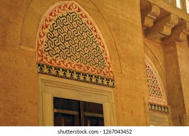 EDIRNE, TURKEY - MAY 2, 2018 -Interior of Sinan's Selimiye Mosque, 16th century,  in Edirne,Turkey