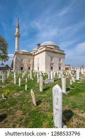 EDIRNE - TURKEY, May 2017, The Muradiye Mosque. Sultan Murat had built in Edirne in 1436.