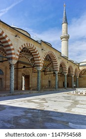 EDIRNE, TURKEY - MAY 26, 2018:  Uc Serefeli mosque Mosque in the center of city of Edirne,  East Thrace, Turkey