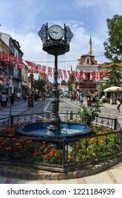 EDIRNE, TURKEY - MAY 26, 2018: Shopping  pedestrian street in the center of city of Edirne,  East Thrace, Turkey