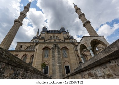 EDIRNE, TURKEY - MAY 26, 2018: Outside view of Built by architect Mimar Sinan between 1569 and 1575 Selimiye Mosque  in city of Edirne,  East Thrace, Turkey