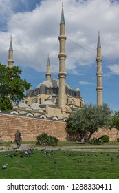 EDIRNE, TURKEY - MAY 26, 2018: Outside view of Selimiye Mosque Built between 1569 and 1575  in city of Edirne,  East Thrace, Turkey