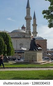 EDIRNE, TURKEY - MAY 26, 2018:  Eski Camii Mosque in the center of city of Edirne,  East Thrace, Turkey