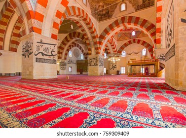 EDIRNE - TURKEY, OCTOBER 21:Interior of the Edirne Old Mosque on october 21, 2014. The Old Mosque is an early 15th century Ottoman mosque in Edirne, Turkey