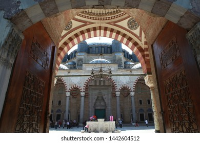 Edirne, Turkey- Selimiye Mosque, a masterpiece of Mimar Sinan, is visited by tourists almost any time of the year. April 28, 2012.