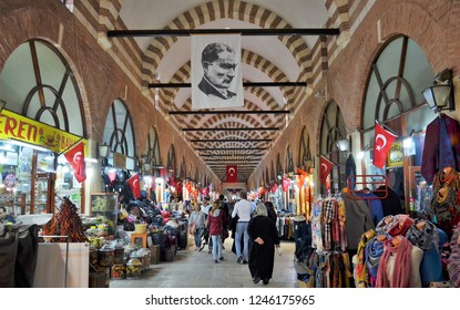 EDIRNE,TURKEY-MAY 08: Ali Pasha Bazaar of Edirne.May 08,2016 in Edirne,Turkey