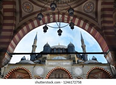 EDIRNE,TURKEY-MAY 08: Selimiye Mosque of Edirne.May 08,2016 in Edirne,Turkey