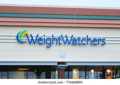 Edison, New Jersey December 16 2017: Weight Watchers corporate office building. Weight Watchers is a company offering weight loss products and services.