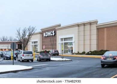 Edison, New Jersey December 16 2017: Kohl's, whose south Ann Arbor store, has close to 1,200 stores nationwide.