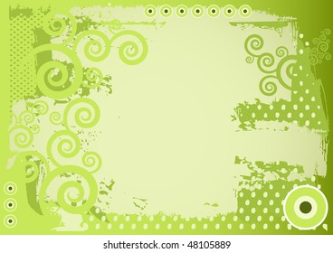 Editable grunge vector background with space for your text.