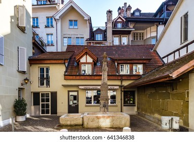 Editorial: 25th February 2017: Bern, Switzerland. Historic center of the city.