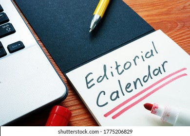 Editorial calendar or publishing schedule for content in the notebook. - Shutterstock ID 1775206829
