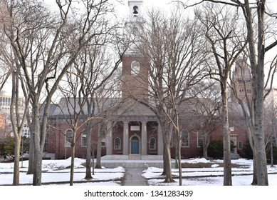 Editorial: Cambridge, Massachusetts, United States: March 2019: Fragments of world famous Harvard University in Cambridge, Massachusetts