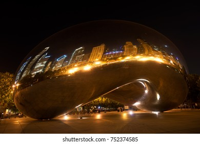 Editorial, Chicago IL, August 5, 2014 Cloud gate, bean at Millennium park city of Chicago