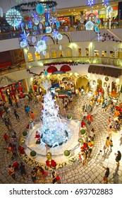 Editorial image of Ipoh Shopping Mall, Perak, Malaysia during Christmas season. Photo taken 21st December 2015