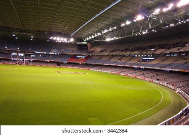 Editorial, Indoor under lights  Australian rules football stadium telstra dome