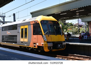 EDITORIAL: NOV 04th, 2016: NSW Sydney Train in action, it is the suburban passenger rail network serving the city of Sydney, New South Wales, Australia