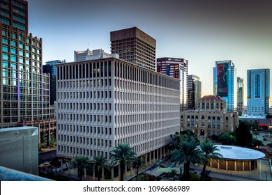 Editorial October 12, 2017: Office buildings in downtown Phoenix Arizona USA