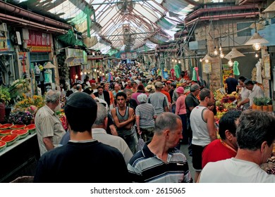 Editorial open market in Jerusalem, Israel