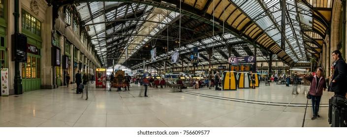 Editorial September 27, 2017: Paris, France, Europe. Train station Gare de Lyon