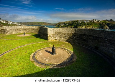 Editorial:  St Catherines Castle, Fowey/Readymoney, Cornwall, UK. 01/03/2019. St Catherines Castle in Fowey was once a defence and look out point for the estuary entrance.