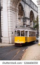 Editorial - Trademark of Lisbon, Tramway. Lisboa, Portugal. 12/2018