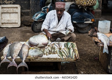 Editorial use. Fish is a vital food in Zanzibar Island and the fish market in Stone Town is a vibrant place each morning, offering fresh capture of the day. April 2016.