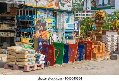 Editorial use only; building construction materials store, at Pattaya, Thailand, taken on March 14th, 2018.
