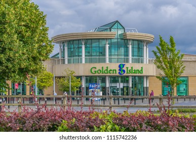 Editorial use only; The Golden Island shopping center, in Athlone, Co. Westmeath, Ireland, taken on July 11th, 2017.