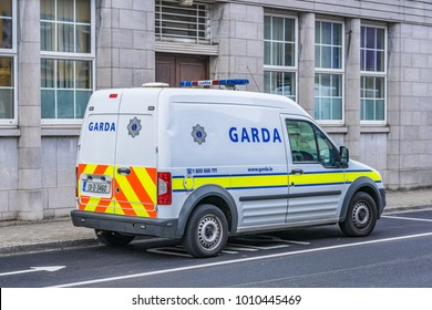 Editorial use only; Irish police van, taken at Athlone, Co. Westmeath, Ireland on July 11th, 2017.