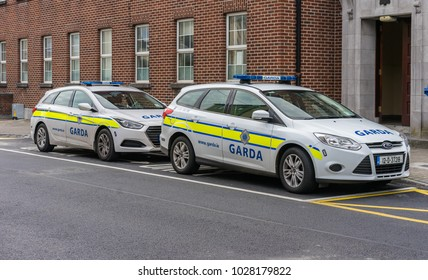 Editorial use only; Irish police cars, taken at Athlone, Co. Westmeath, Ireland on July 11th, 2017.