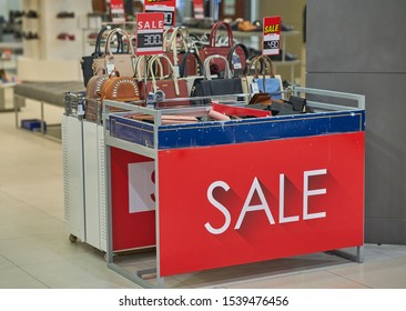 Editorial use only; a sale in a ladies fashion mall, taken at Pathumthani, Thailand, in October 2019.