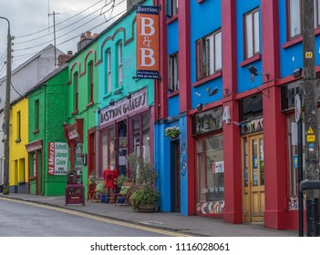 Editorial use only; this is the very colorful Bastion street, in Athlone, Co. Westmeath, Ireland, taken on July 11th, 2017.