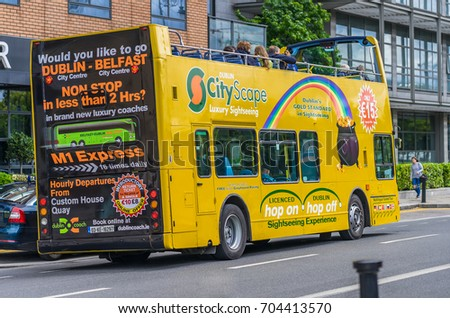 e89f5df66f64f8 Editorial Use Only Tour Bus Dublin Stock Photo (Edit Now) 704413570 ...