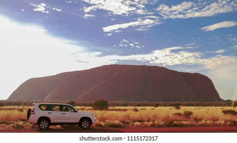 Editorial use only;Ayers Rock in Australia photo was taken on 10th of June 2018