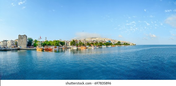 Editorial used photo - 02/08/2017     A view of the city of Sinop from the harbor in Turkey, Eurasia.