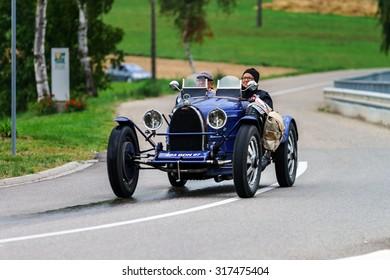 Editorial,12 September 2015: France: XXXIIeme Festival Enthousiastes Bugatti in Molsheim. Vintage car.