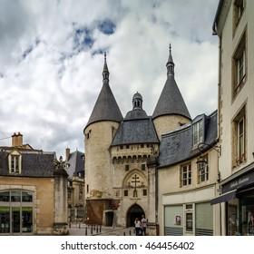 Editorial,31st July 2016: Nancy, France: Medieval city gates street view