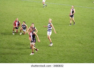 Editorial,Australian rules football geelong and the saints indoor under lights