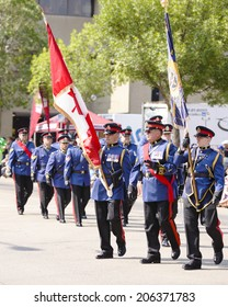 EDMONTON, AB, CANADA-July 18, 2014: Edmonton police members as seen in the K-Days Parade on July 18th, 2014.