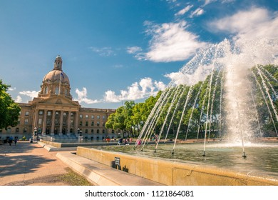 Edmonton / Alberta / Canada - June 08, 2018: Alberta Legislature Building, the meeting place of the Legislative Assembly and the Executive Council, located in Edmonton, Alberta, Canada.