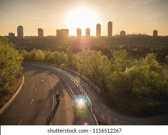 Edmonton, Alberta/ Canada- June 19, 2018: Edmonton Sunset