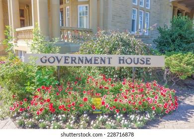 EDMONTON, CANADA - AUGUST 12, 2014: Alberta Government House in Edmonton Canada