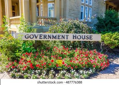 EDMONTON, CANADA - AUGUST 12, 2014: High dynamic range (HDR) Alberta Government House in Edmonton Canada