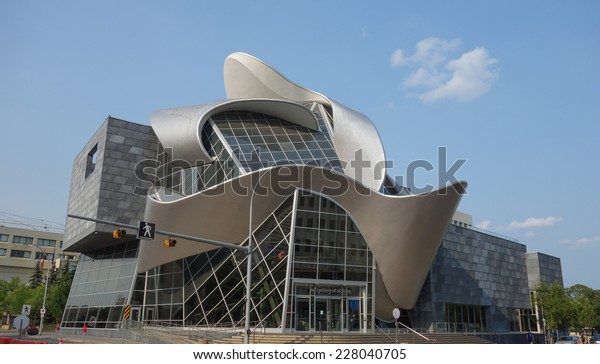 EDMONTON, CANADA - AUGUST 7, 2014: The Art Gallery of Alberta formerly the Edmonton Art Gallery