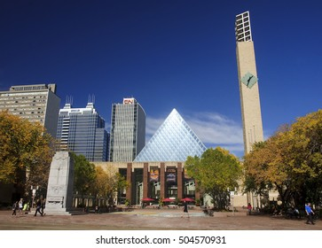 EDMONTON, CANADA - SEPTEMBER 13, 2016: Edmonton s City Hall on 13 September 2016 in Edmonton, Canada. City Hall it was designed by Dub Architects, the building was completed in 1992.